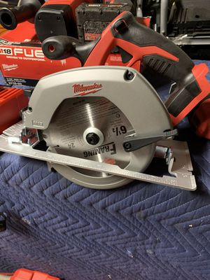 Milwaukee circular saw 6 1/2 blade for Sale in Fort Worth, TX