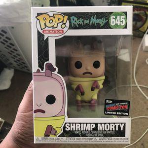 Shrimp Morty Funko pop nycc for Sale in Middleburg, FL