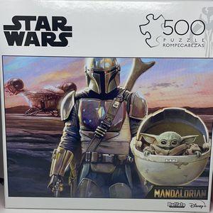 Star Wars Disney The Mandolorian Baby Yoda 500 Piece Puzzle Set *New* for Sale in Virginia Beach, VA