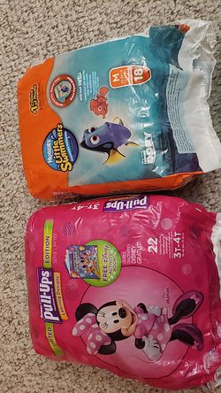 Open bag Huggies little swimmers disposable swimpants & Pull-ups for Sale in Dearborn,  MI
