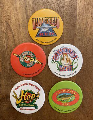 Lot Of 5 Vintage Hops Restaurant Beer Ale Brewery Pins Pinbacks for Sale in Tamarac, FL