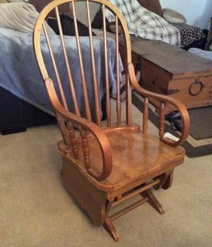 Wooden glider rocking chair for Sale in Mesa, AZ