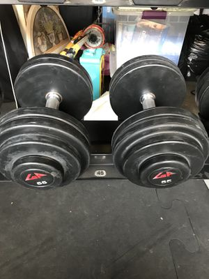 GP Urethane Rubber Coated Dumbbells (2x55s) for $100 Firm!!! for Sale in Burbank, CA