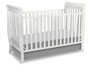 White wooden sleigh baby crib for Sale in Lexington, KY