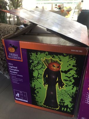 Halloween inflatable pumpkin reaper 10 ft for Sale in San Marino, CA