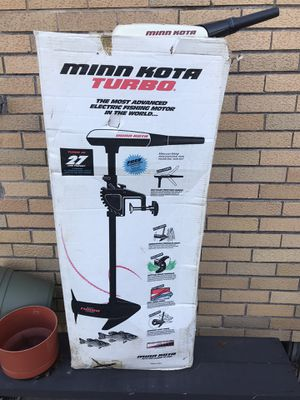 Minn Kota turbo 40. 27lb. Thrust multi speed trolling motor for Sale in Park Ridge, IL