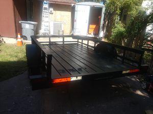 Utility trailer 6x10 with lights were perfect 1100 obo metal deck piso de fierro for Sale in Dallas, TX