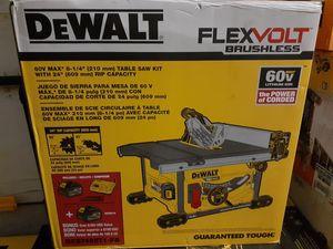 New never used flexvolt Dewalt cordless table saw kit for Sale in Fort Lauderdale, FL