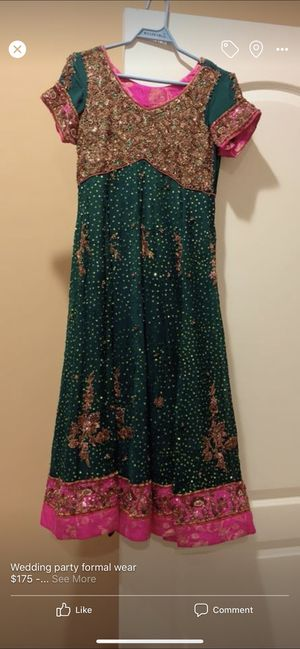 Forest green with pink formal dres three piece for Sale in Ashburn, VA