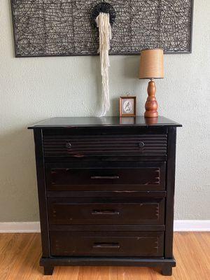 Pier1 black wooden dresser for Sale in Portland, OR