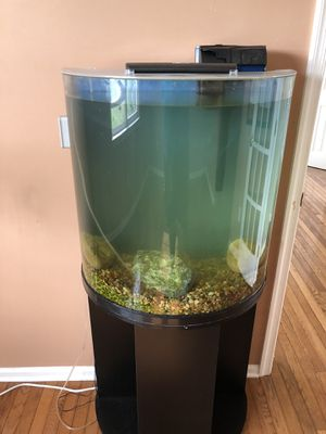45 gal fish tank with led lights, filter and stand for Sale in Lambertville, NJ