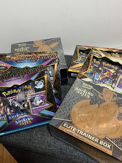 Pokémon Shining Fates Elite Trainer Box Mad Party Pin Collection for Sale in Brooklyn,  NY