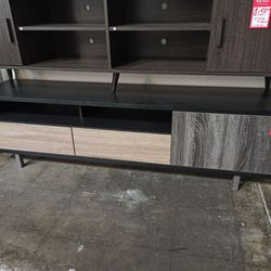 NEW, TV STAND - BLACK&DARK TAUPE&DISTRESSED GREY, SKU#TC151362. for Sale in Westminster,  CA