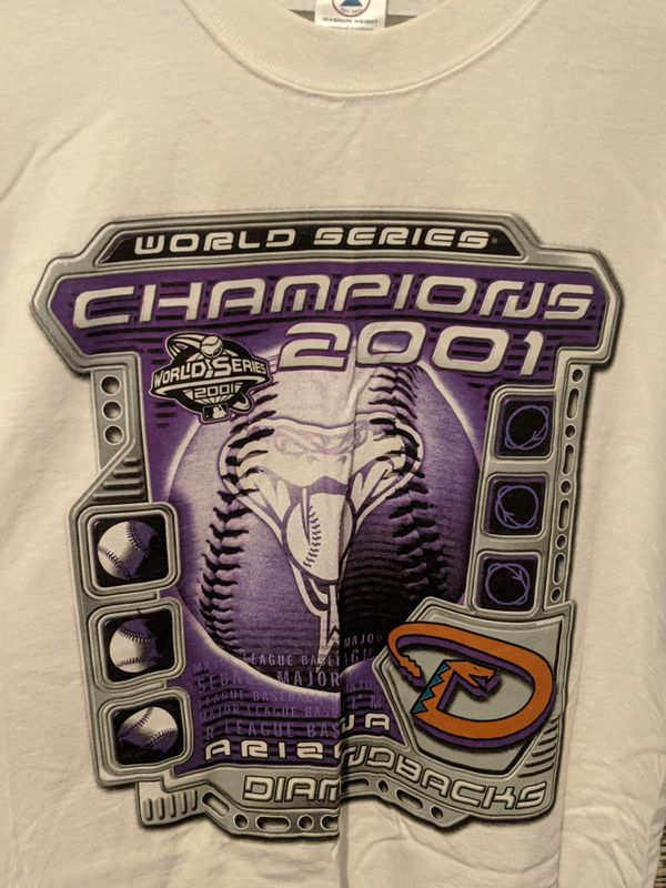 MLB World Series Diamondbacks T Shirt 2001 Arizona Baseball Tee Vintage Size L