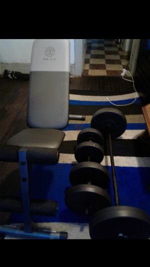 Workout Bench and Weights for Sale in Detroit, MI