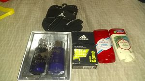 Jordans socks , Adidas cologne, 2 old spice deodorant ,polo cologne for Sale in Glendale, AZ