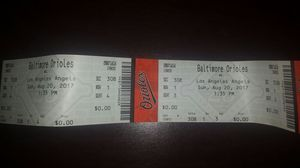 Oriole Tickets for sale ( Today's Game) for Sale in Laurel, MD