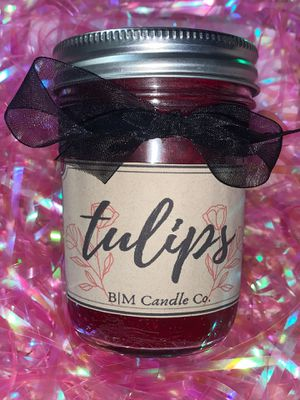 Tulips Scented Hand-poured Soy Candle for Sale in Cabazon, CA