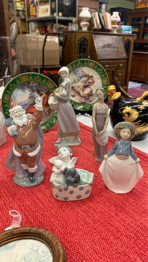 Lladro Porcelain figurines, Santa, Angel, rooster, bridesmaid, Puppies for Sale in Azusa, CA