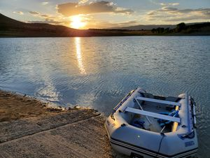 Sea Eagle raft, trailer and 15hp motor for Sale in Marble, CO