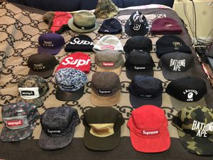 Supreme and Bape hats and beanies for Sale in San Francisco, CA
