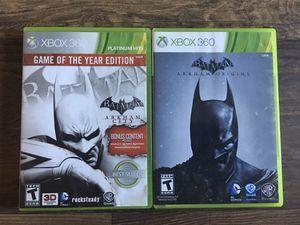 2 Xbox 360 Games - Batman: Arkham City GOTY Edition & Batman: Arkham Origins for Sale in Brentwood, CA