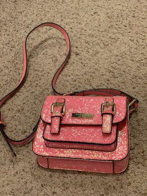 Kate Spade Girls' Scout Cross-Body Bag Pink Iridescent Glitter for Sale in Renton, WA