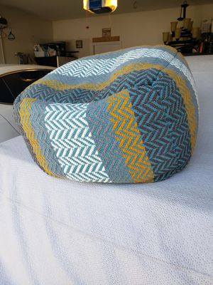 Awesome bean bag ottoman $25 firm for Sale in Fresno, CA