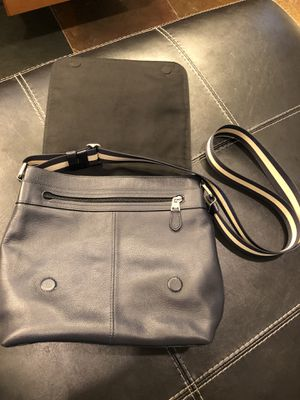 Coach medium charles navy blue leather messenger bag for Sale in Highland, CA