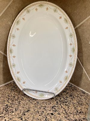 WH Grindley Savoy - Antique Ironstone China Large Oval platter for Sale in Lewisville, TX