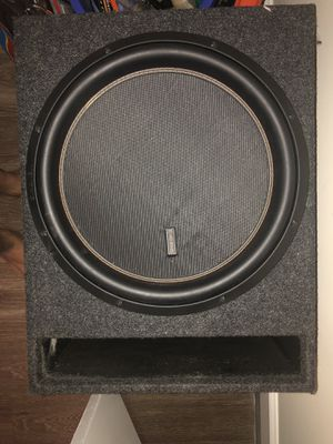 Memphis M6 15 Subwoofer and box with Alpine amp for Sale in Smyrna, TN