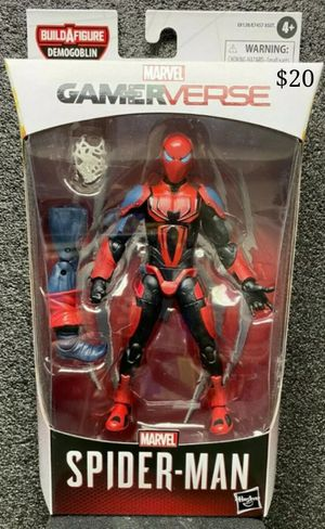 Marvel Legends Spiderman Spider Armor MK III Collectible Action Figure Toy with Demogoblin Build a Figure Piece for Sale in Chicago, IL