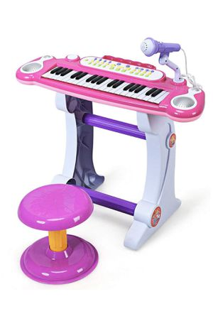 New- Electronic Keyboard 37-Key Piano, Musical Piano w/Record and Playback for Kids, Working Microphone & Stool, Pink for Sale in Miami, FL