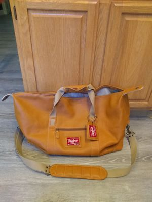 Rawlings Leather Sports Travel Duffle Bag for Sale in Bremerton, WA