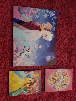 Disney Princess/Frozen Canvas Wall Art for Sale in Virginia Beach, VA