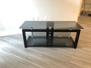 Glass TV Stand Available for Pick up for Sale in Rockville, MD