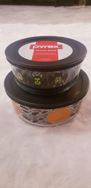 Halloween Pyrex Glass Containers for Sale in Houston, TX