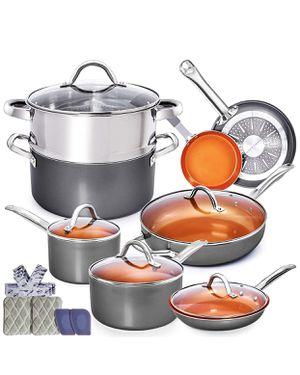 NEW! Home hero pots and pans set! for Sale in Oak Glen, CA