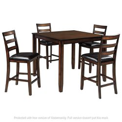NEW, BROWN DINING ROOM TABLE SET, 6 PC. for Sale in Chino,  CA