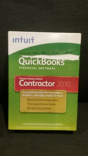 QUICKBOOKS CONTRACTOR 2010 for Sale in Ferndale, WA