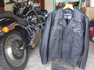 Tough Leather XL Motorcycle Jacket & Vest New! Never Worn! XL for Sale in Woodridge, IL