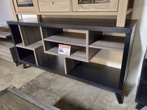 TV Stand up to 70in TVs, Black and Distressed Grey for Sale in Santa Ana, CA