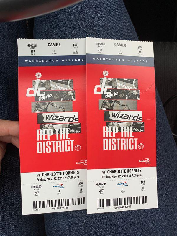 Washington Wizard tickets 11/22