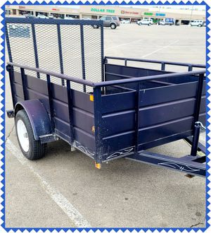 5 x 8 Landscape Utility Trailer – 2 inch ball Solid Steel Sides! *** NO TITLE, BILL OF SALE ONLY for Sale in Fort Worth, TX