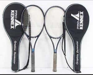 2 Pro Kennex Graphite Dominator Tennis Rackets w/ Cases 4 3/8 Grip for Sale in Tumwater, WA