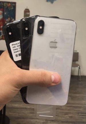Factory unlocked apple iphone X 64 gb, store warranty! $450 each for Sale in Somerville, MA