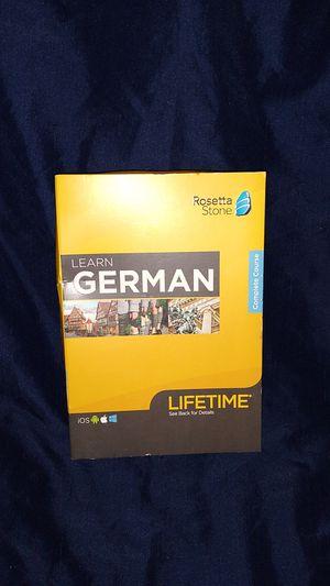 Rosetta Stone, complete courses of German for Sale in Spokane, WA