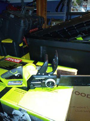 Ryobi 18 volt brushless chainsaw for Sale in Oak Glen, CA