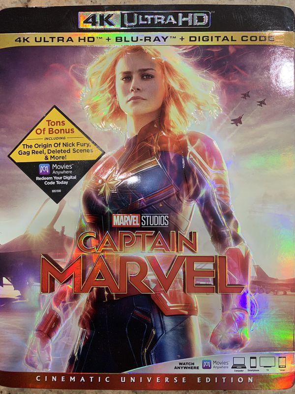 Captain marvel 4K digital copy only