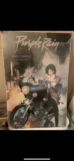 Antique Purple Rain World Premier Poster was 1984 for Sale in West Sacramento, CA